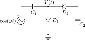 voltage_clamper_peak_detector_circuit